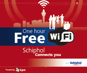 Schiphol Airport lifted Wi-Fi use restriction