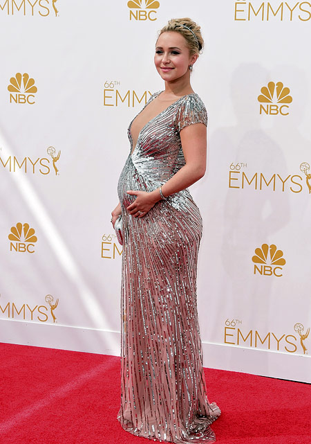 Hayden Panettiere on the red carpet of 2014 Emmy Awards