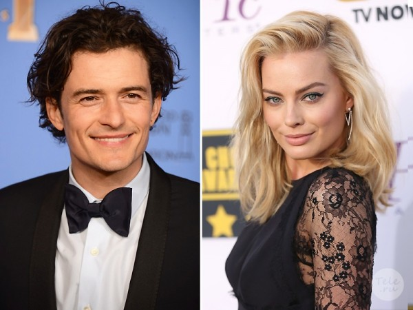 Orlando Bloom makes a mash on Margot Robbie