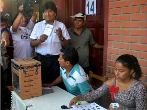 Evo Morales wins presidential elections in Bolivia