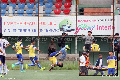 Indian football player dies after jump of happiness