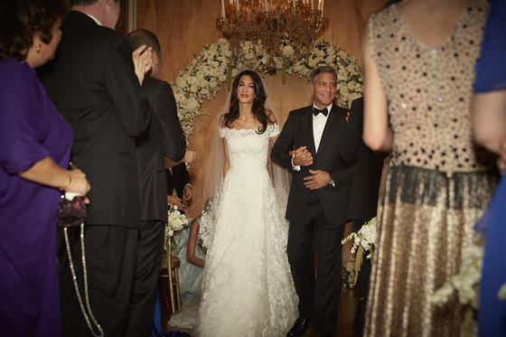 George Clooney and Amal Alamuddin: first wedding photos