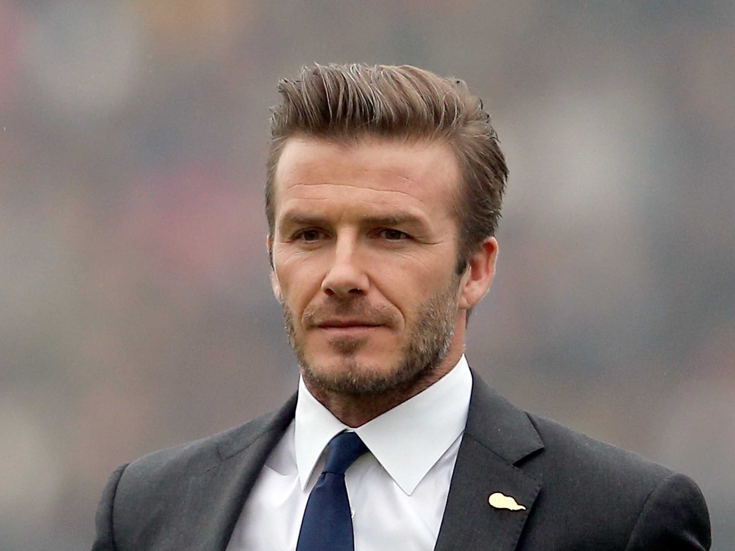 David Beckham had car accident with his son