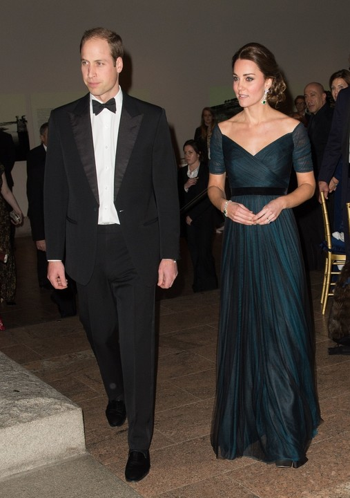 Duchess of Cambridge in elegant dress at the gala in the U.S.