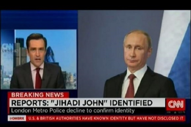 CNN shows President Putin as Jihadi John