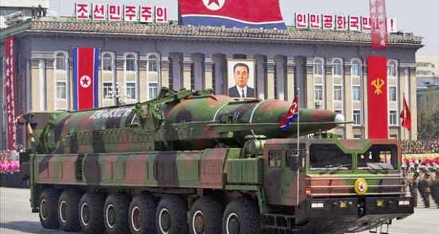 Kim Jong-un at military parade