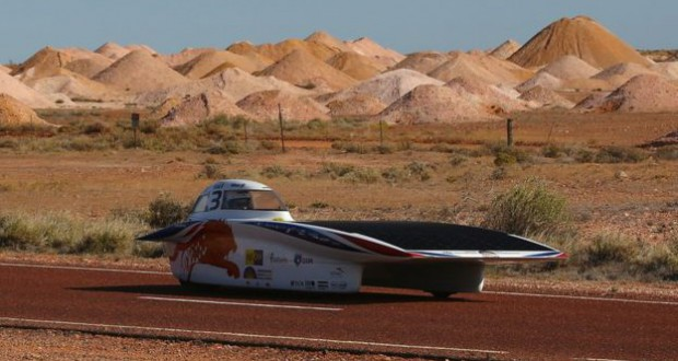 A Dutch team from Delft University wins a solar car race in Australia