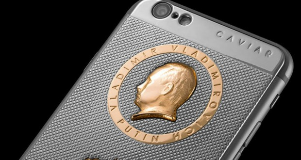 Luxurious iPhone 6S with Putin's head