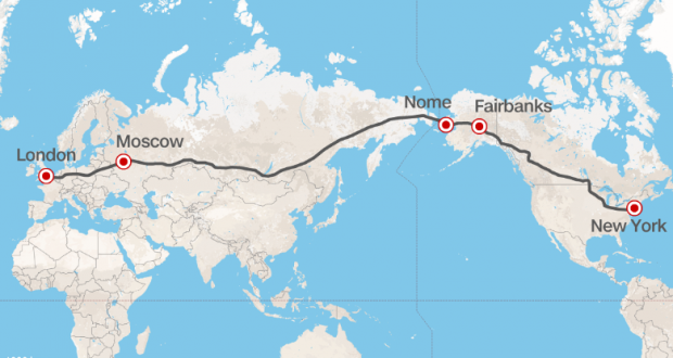 Russia proposed to build a superhighway from London to New York