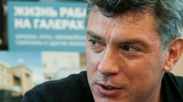 Moscow municipal service tossed the portraits of Boris Nemtsov and flowers from the memorial site