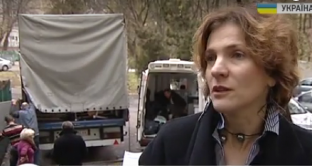 Ukrainian diaspora of France brought to Ukraine medical equipment for soldiers and IDPs from the ATO area