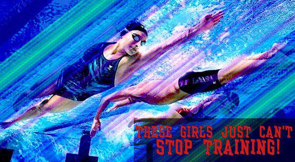 These girls just can't stop training!