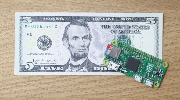 Raspberry Pi Zero for $5 is here