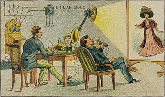 How illustrators imagined video conference a hundred years ago