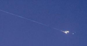 UFO burned in the skies over Sri Lanka