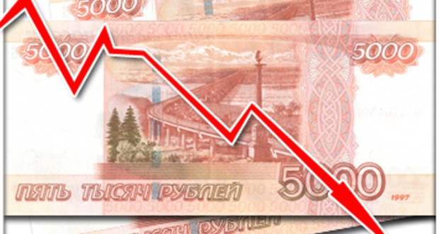 Russian Ruble dropped to USD and Euro on the oil prices decline