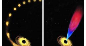 Massive black hole devours a star, returning leftovers