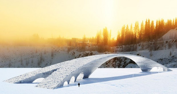 Da Vinci's Bridge in Ice will be build in Finland