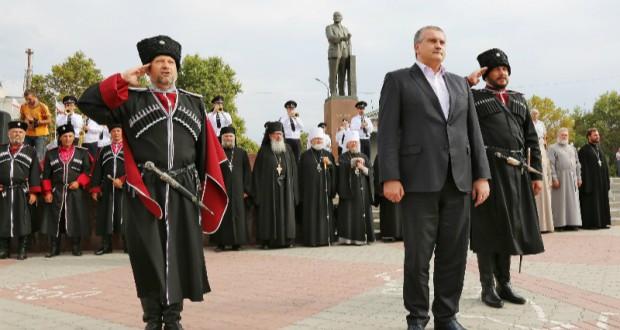 Russian Cossacks raided the houses of Crimean Tatars