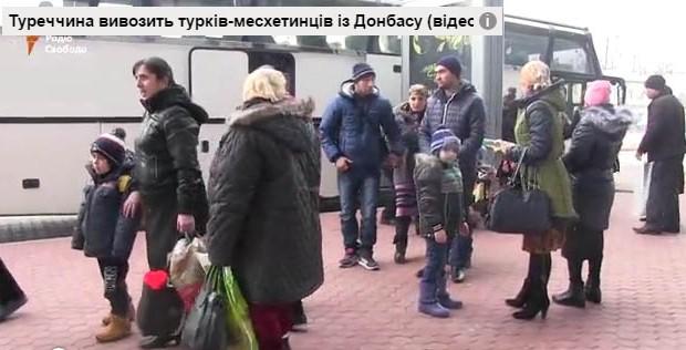 Meskhetian Turks flee war-torn Donbas