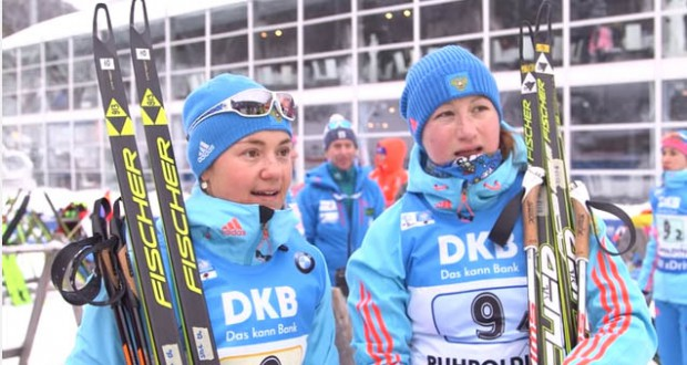 Ukraine wins women's biathlon World Cup relayUkraine wins women's biathlon World Cup relay