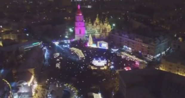 New Year celebrations in Kyiv center