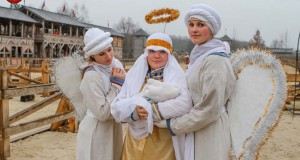 Ancient Kyiv in the Kyivan Rus Park welcomes to the Middle Ages Christmas holidays