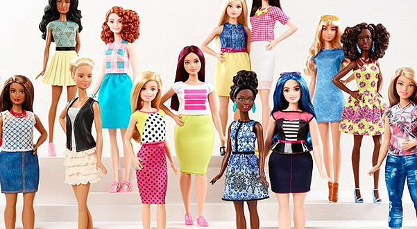 Mattel presented Barbie with 3 new body types and 7 skin colors