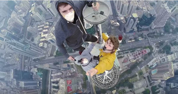 Dizzy climb to 1,260 feet high tower for a stunning shot