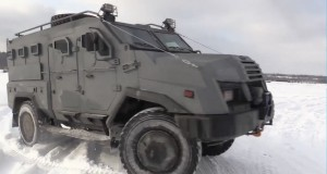 "A new Ukrainian armored personnel carrier ""Varta-2"" tested on training field"