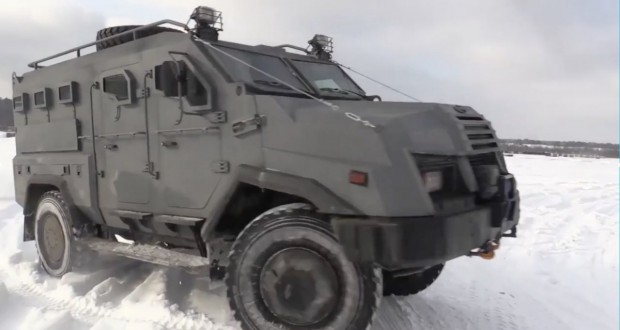 """A new Ukrainian armored personnel carrier """"Varta-2"""" tested on training field"""