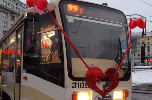 Ukraine capital's public transport to surprise passengers on Valentine's Day