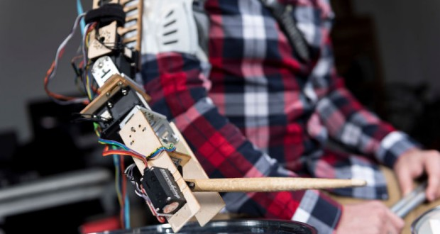 Researchers created a third arm for drummer