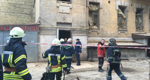 Building collapses in downtown Ukraine's capital