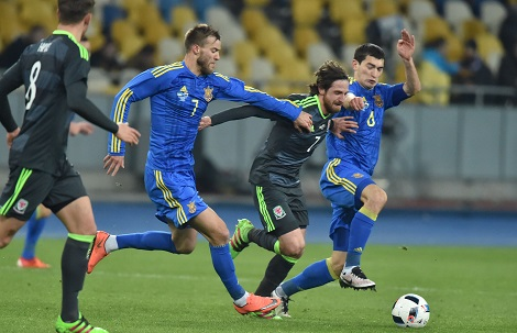Ukraine defeats Wales 1:0 in a friendly match