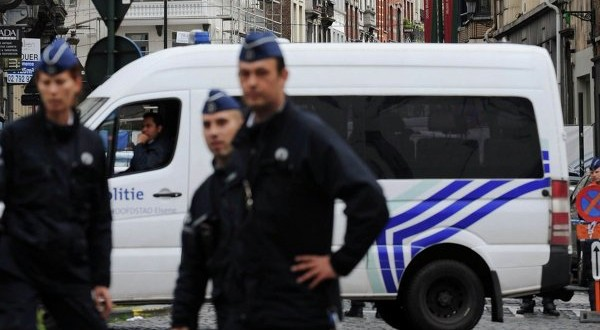 Police hunting after gunfire in counter-terrorism raid in Brussels
