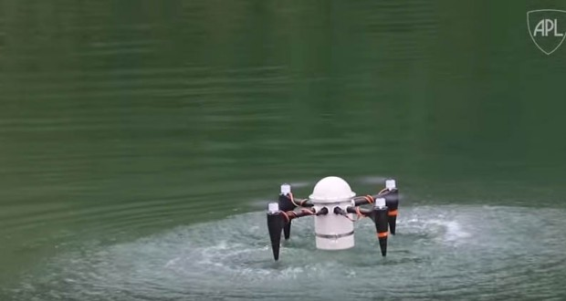 Researchers from John Hopkins University created a drone that can be launched from underwater