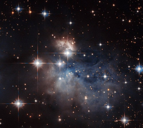 Hubble shows a young star's fingerprint