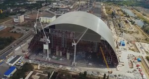 EBRD shows Chornobyl's New Safe Confinement construction site