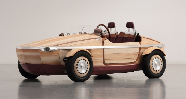 Toyota created an all-wood roadster concept