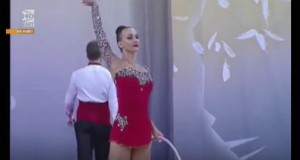 Ukrainian Hanna Rizatdinova wins gold in Rhythmic Gymnastics 2016 World Cup – video