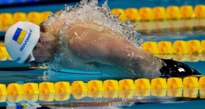Ukrainian swimmer Andrey Govorov won in 50-meter butterfly, set new record in London