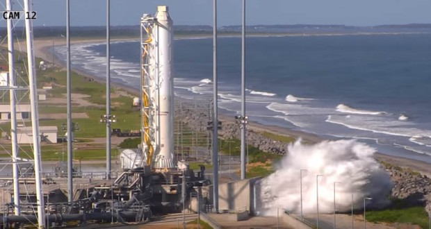 Re-engined Antares with Ukrainian-made core stage completes ground test firing