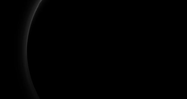 The dark side of Pluto
