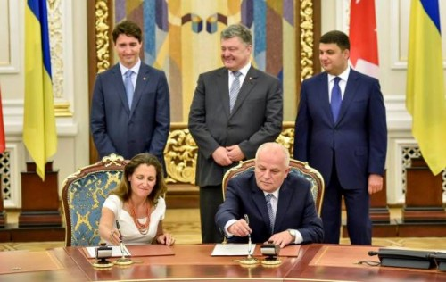 Canada-Ukraine Free Trade Agreement signed