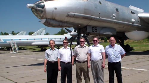 Delegation of Canadore College and UkraineIs visit the NAU's National Museum of Aviation