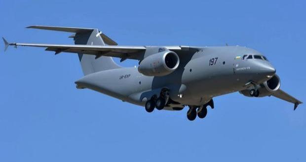 Ukrainian An-178 shows off in Farnborough - video