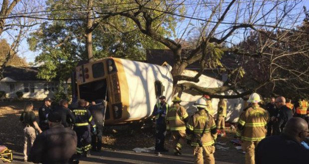 School bus crash in Chattanooga, Tennessee leaves six children dead