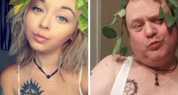 Father challenges daughter's selfies on Instagram