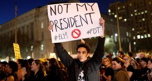 Thousands protest against Trump victory across the USA